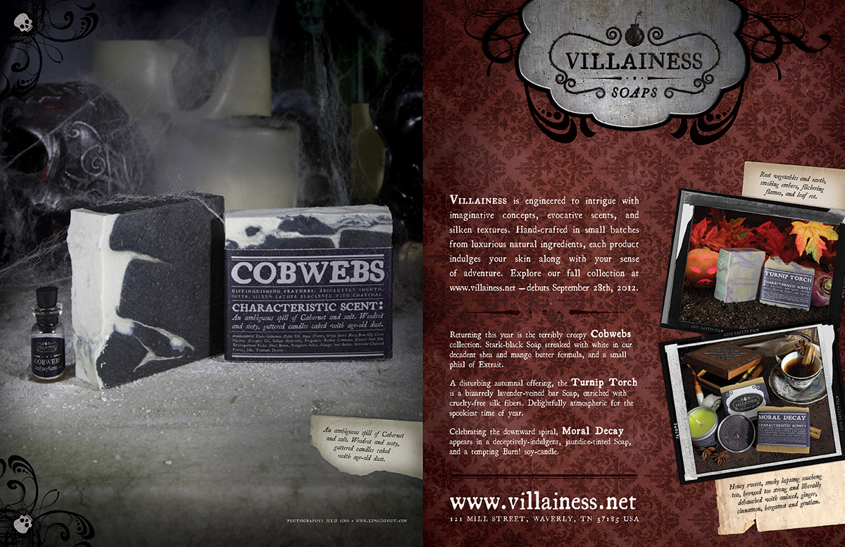 Villainess Magazine Ad design