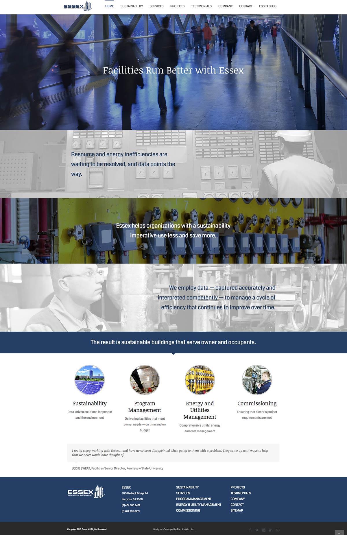 EssexCo.com web site design and development home page