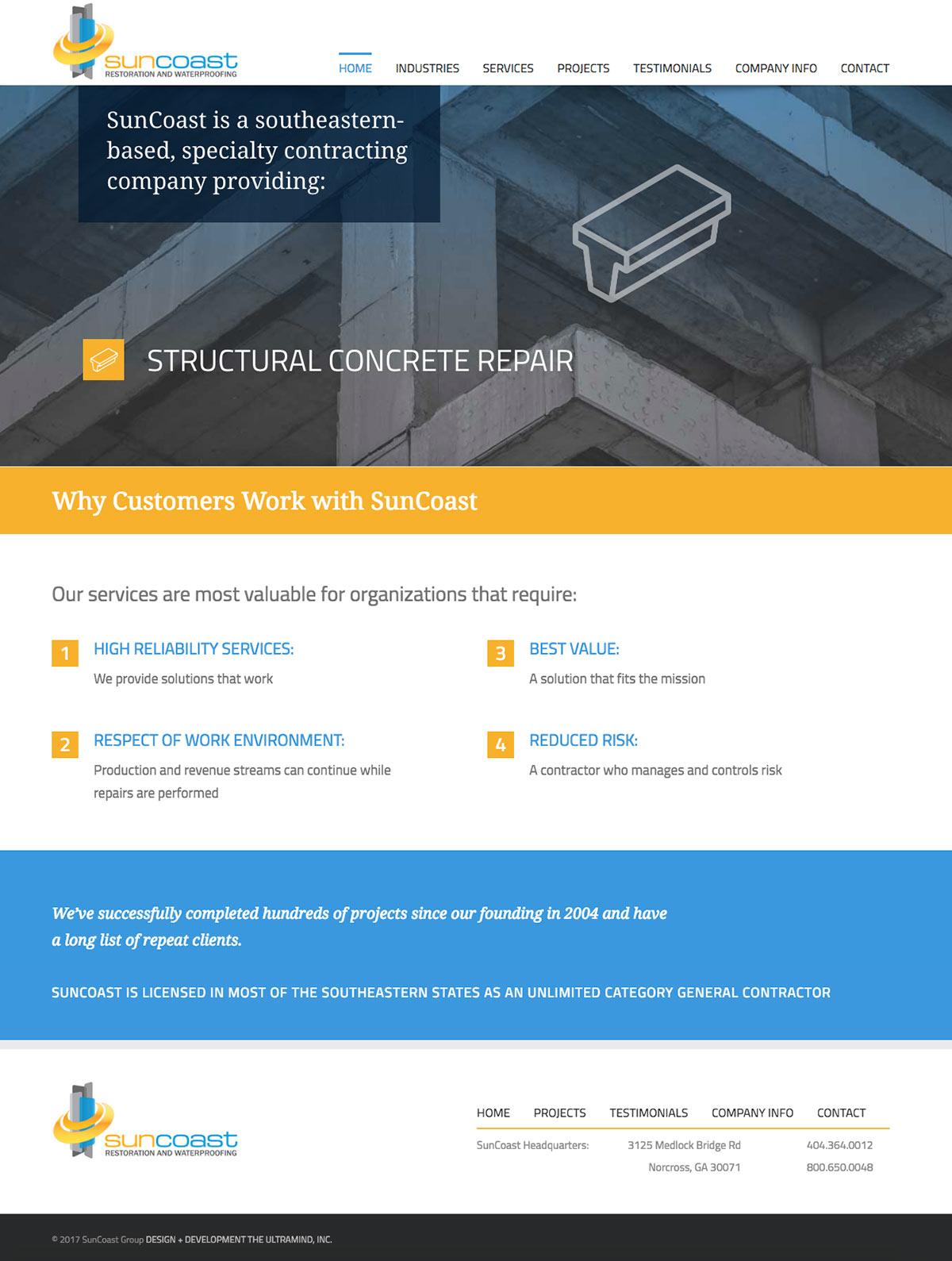 SunCoast-Group.com web site design and development home page